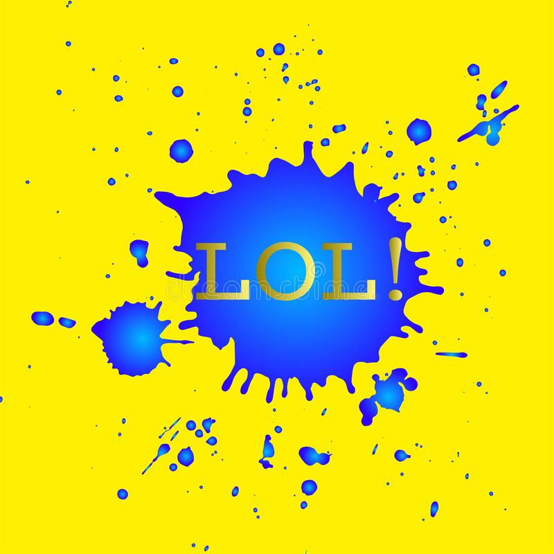 LOL graphical poster royalty free illustration