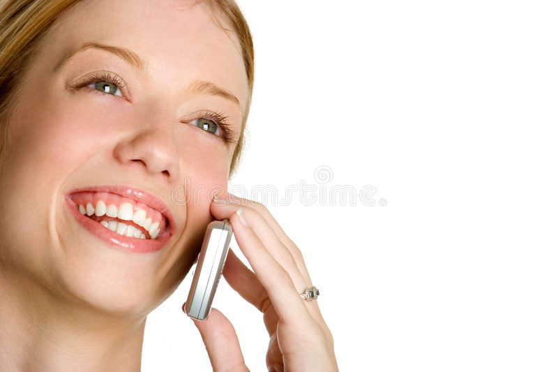 Laughing Phone Woman stock photo