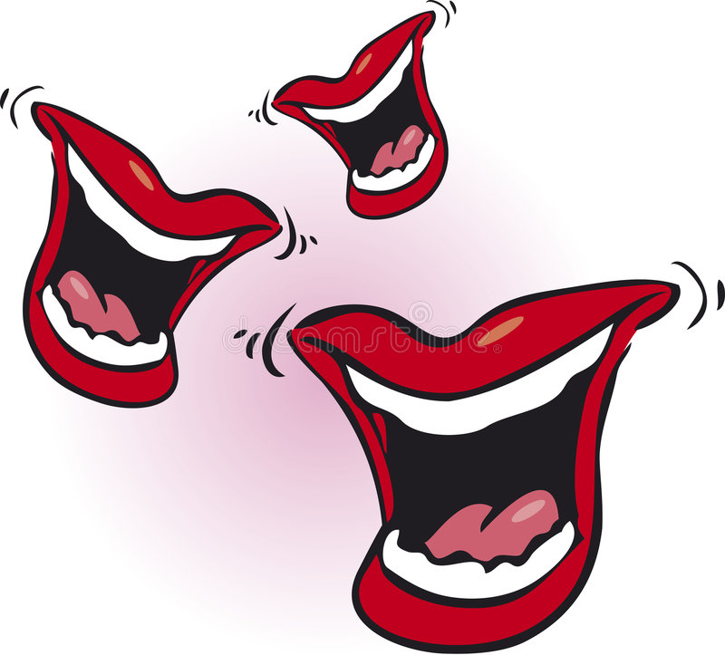 laughing red lips stock vector illustration of funny 3099886 rh dreamstime com Kissy Lips Clip Art Funny Eyes Clip Art