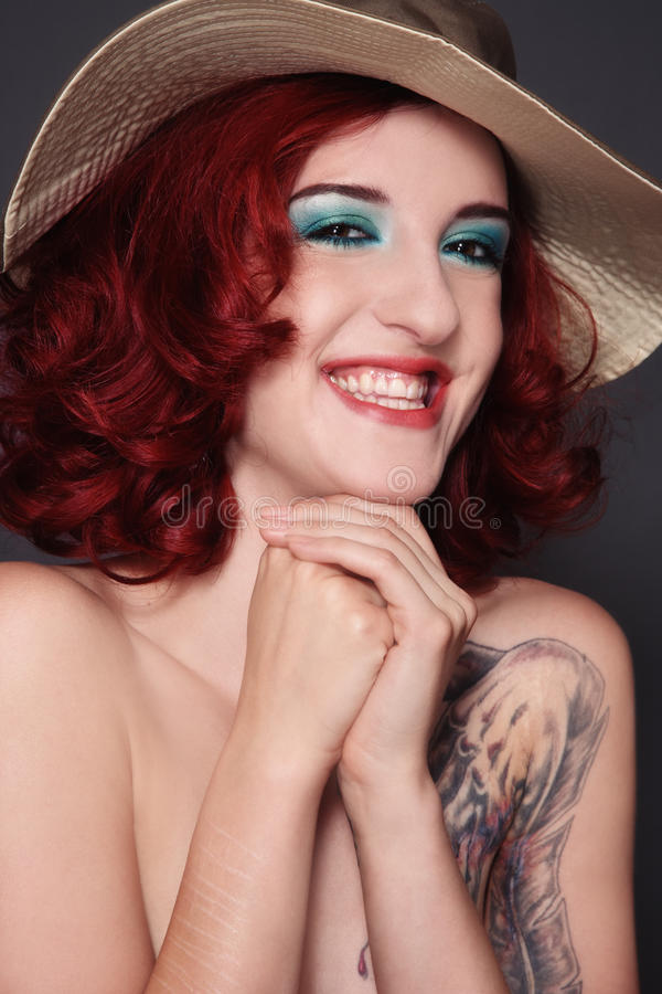 Laughing redhead royalty free stock photography