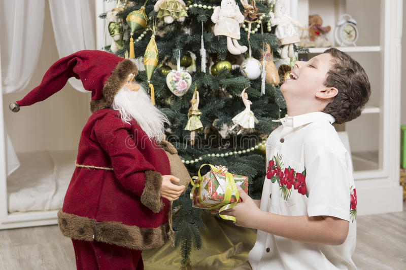 Download Laughing with Santa Clause stock photo. Image of holiday - 35237920