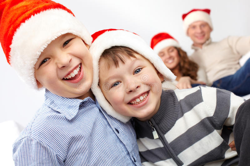 Download Laughing Santas stock image. Image of merry, mood, event - 24763625