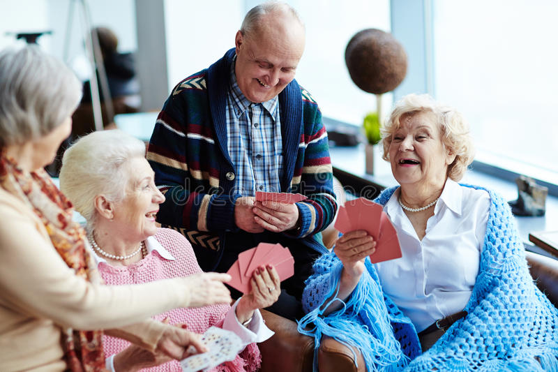 Laughing seniors stock images