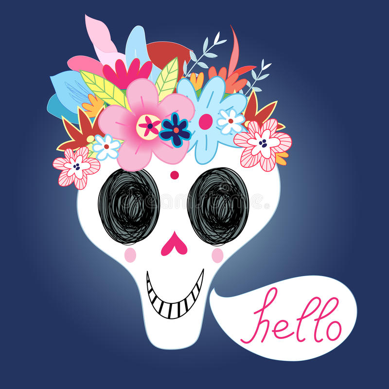 Laughing Skull royalty free illustration