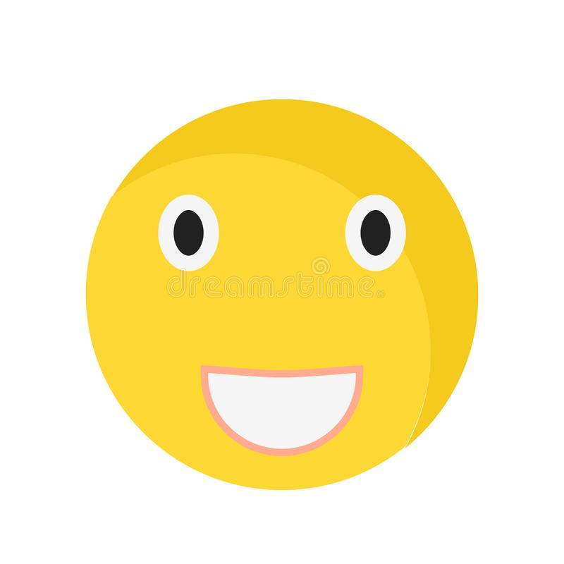 Laughing smile icon vector sign and symbol isolated on white background, Laughing smile logo concept royalty free illustration