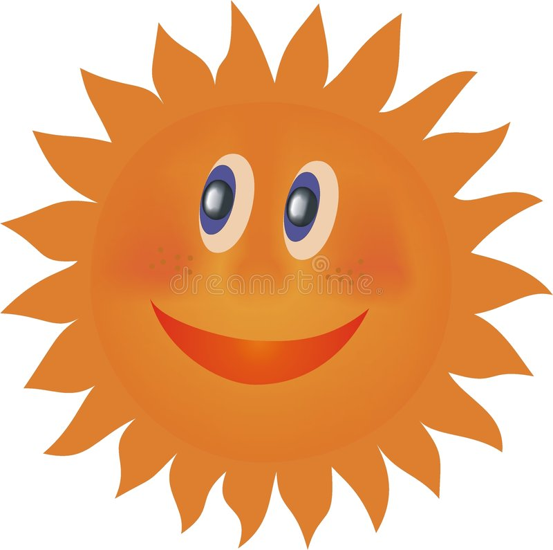 Laughing sun vector illustration