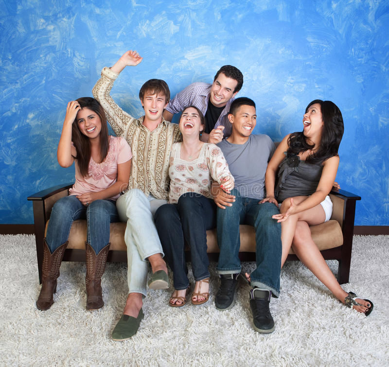 Laughing Teenagers stock images