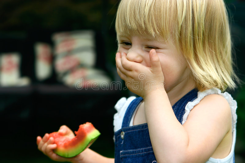 Laughing toddler girl royalty free stock photos
