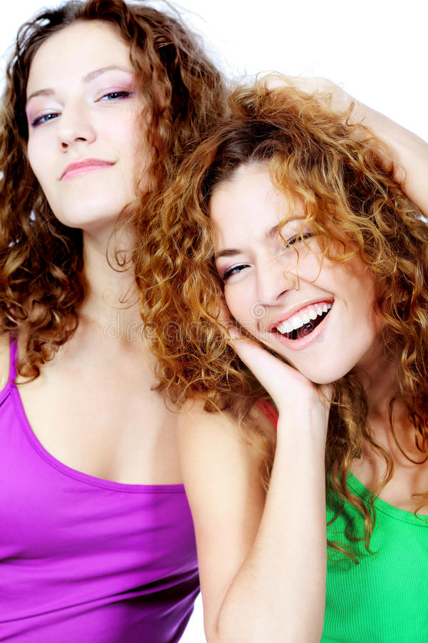 Laughing together stock photography