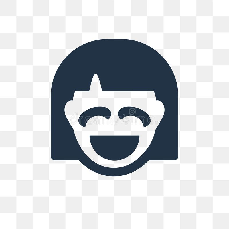 Laughing vector icon isolated on transparent background, Laughing transparency concept can be used web and mobile royalty free illustration