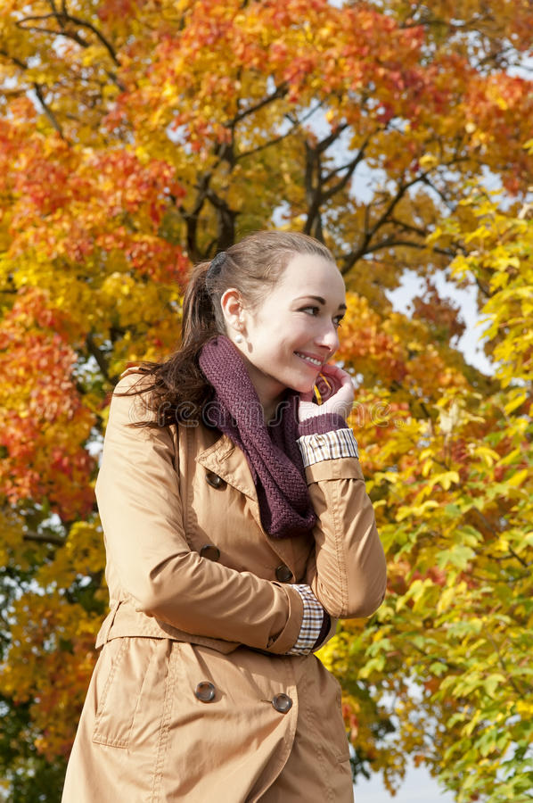 Download Laughing woman stock photo. Image of grace, beauty, scarf - 27930486