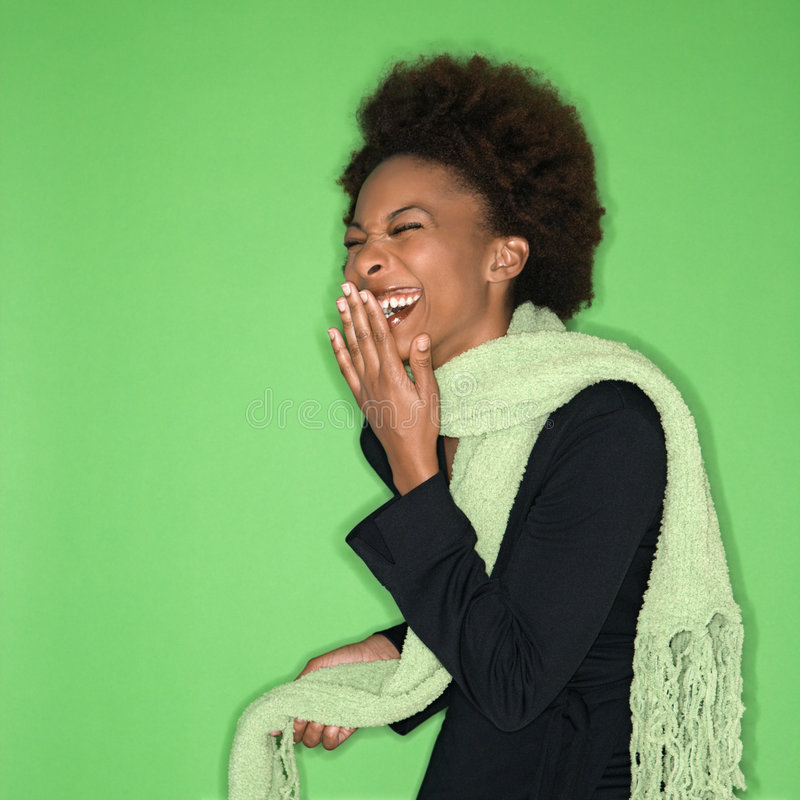 Laughing woman stock images
