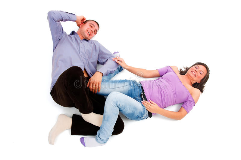 Download Laughing young couple stock image. Image of isolated - 17173761