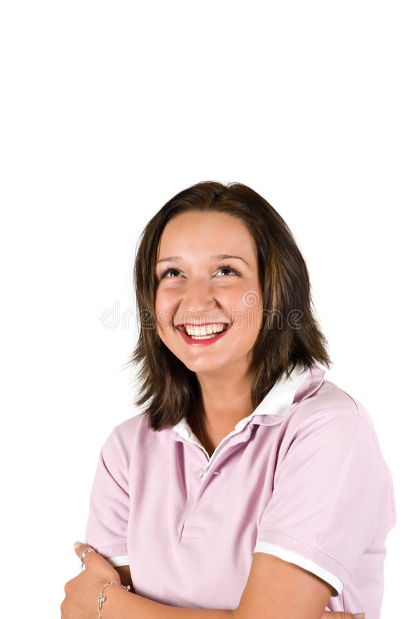 Download Laughing youth woman stock photo. Image of background - 9121004
