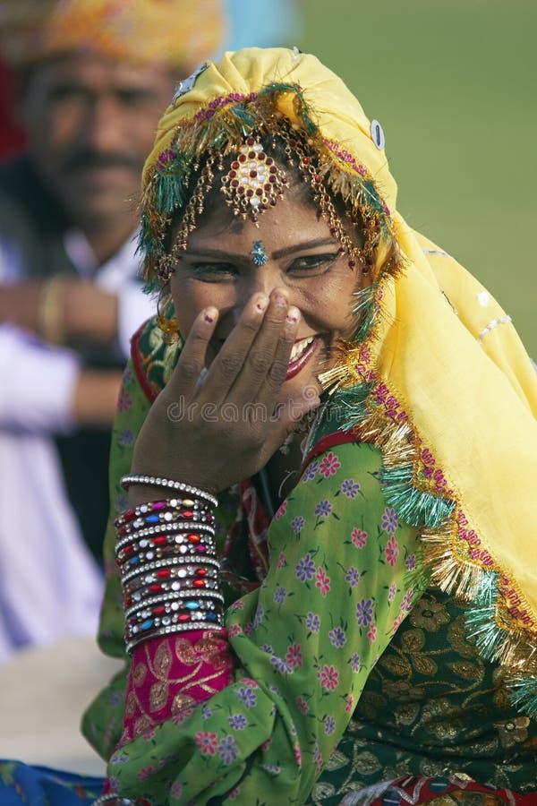 Laughter. Indian Woman Laughing in Jaipur, Rajasthan, India royalty free stock photos
