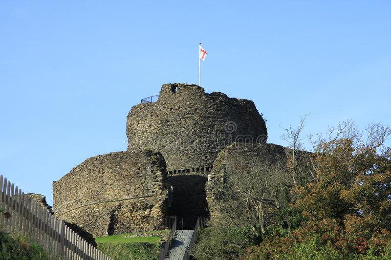 Launceston Castle. Is located in the town of Launceston, Cornwall, England. It was probably built by Robert the Count of Mortain after 1068, and initially royalty free stock images