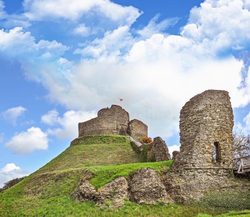 Launceston castle in the town of Launceston royalty free stock photos