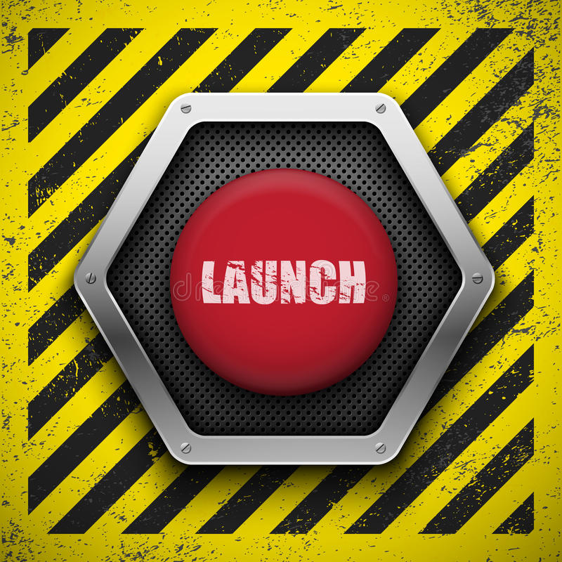 Launch button. royalty free illustration