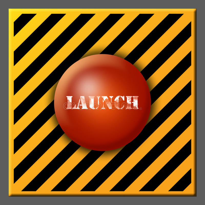 Download Launch button stock illustration. Image of button, black - 20092769