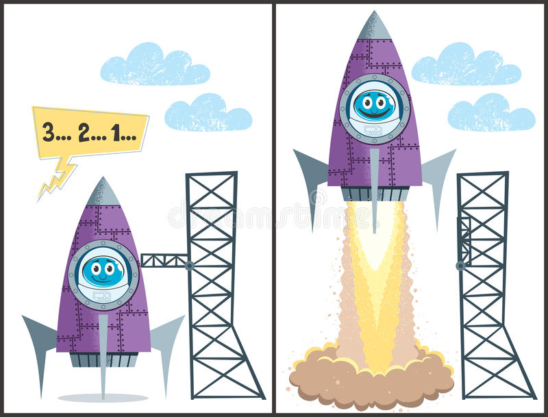 Launch Stock Vector