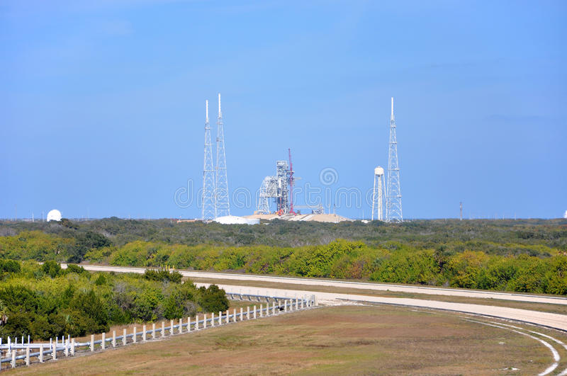 Launch Complex in Kennedy Space Center. Launch Complex in the John F. Kennedy Space Center in Florida, USA stock photos