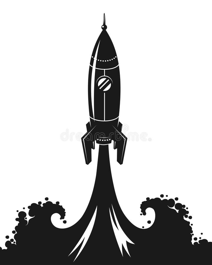 Launch of space rocket royalty free illustration