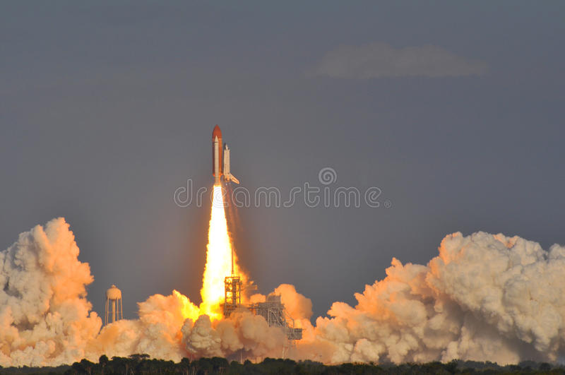 Launch of Space Shuttle Discovery stock photos