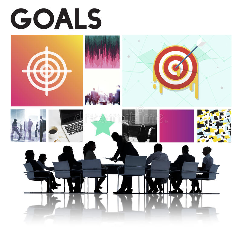 Launch Target Goals Rocketship Graphic Concept stock images