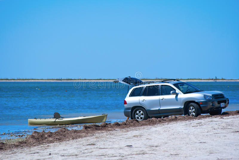 Download Launching A Kayak From An SUV Stock Image - Image: 21719079