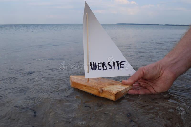 Launching my new website royalty free stock image