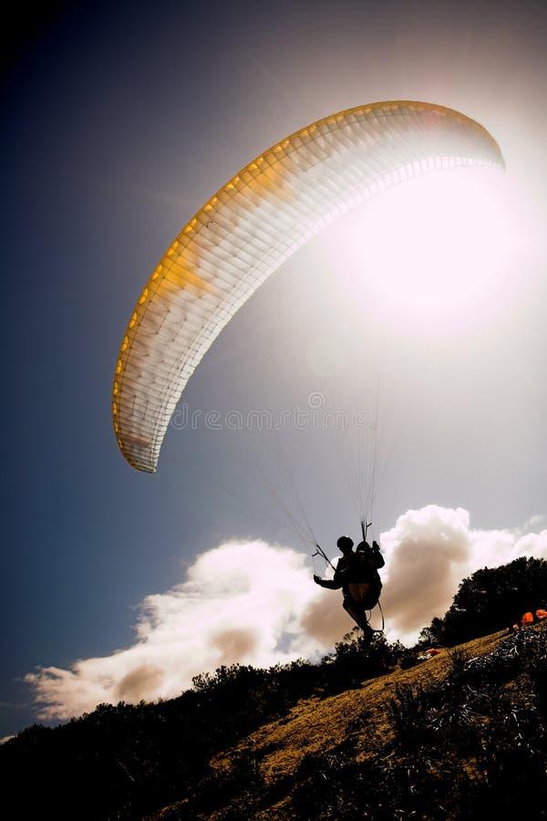 launching paraglider στοκ φωτογραφίες