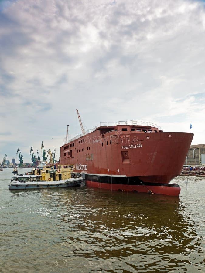 launching ship στοκ φωτογραφία με δικαίωμα ελεύθερης χρήσης