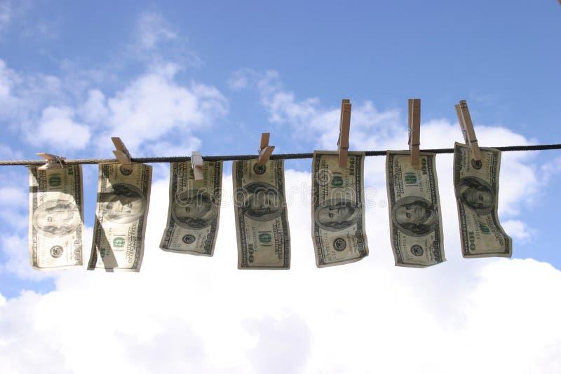 laundered деньги стоковая фотография