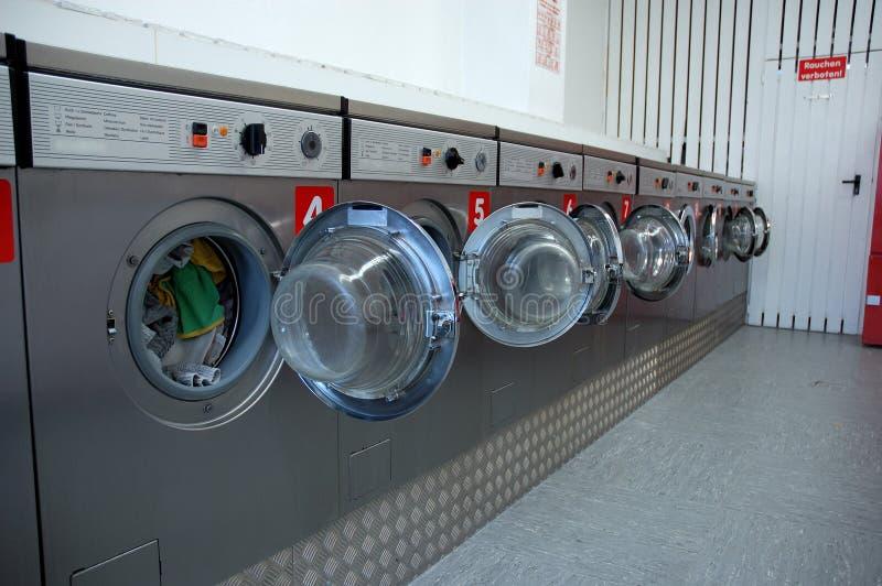 Laundromat stock photography
