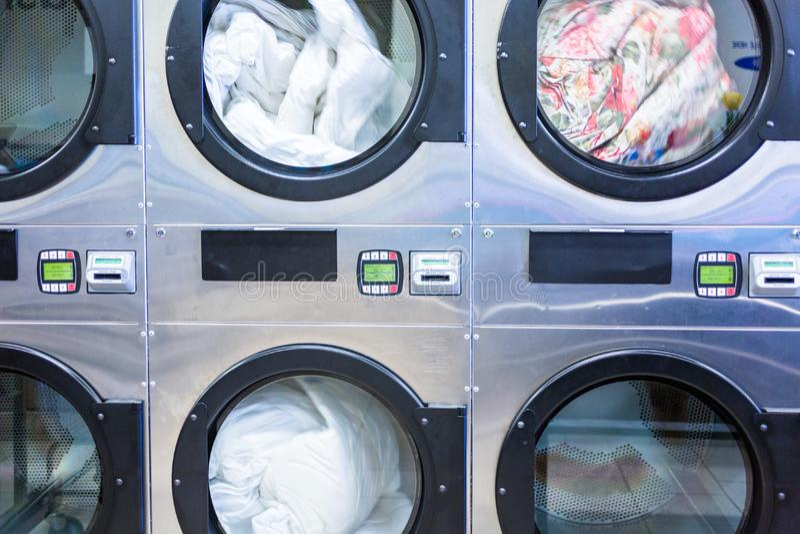 laundromat imagem de stock