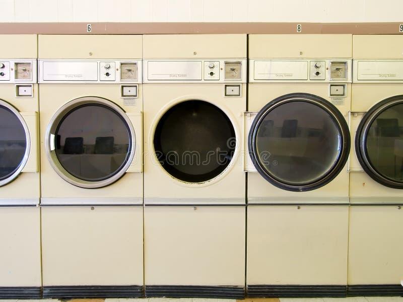 Laundromat Drogers stock afbeeldingen