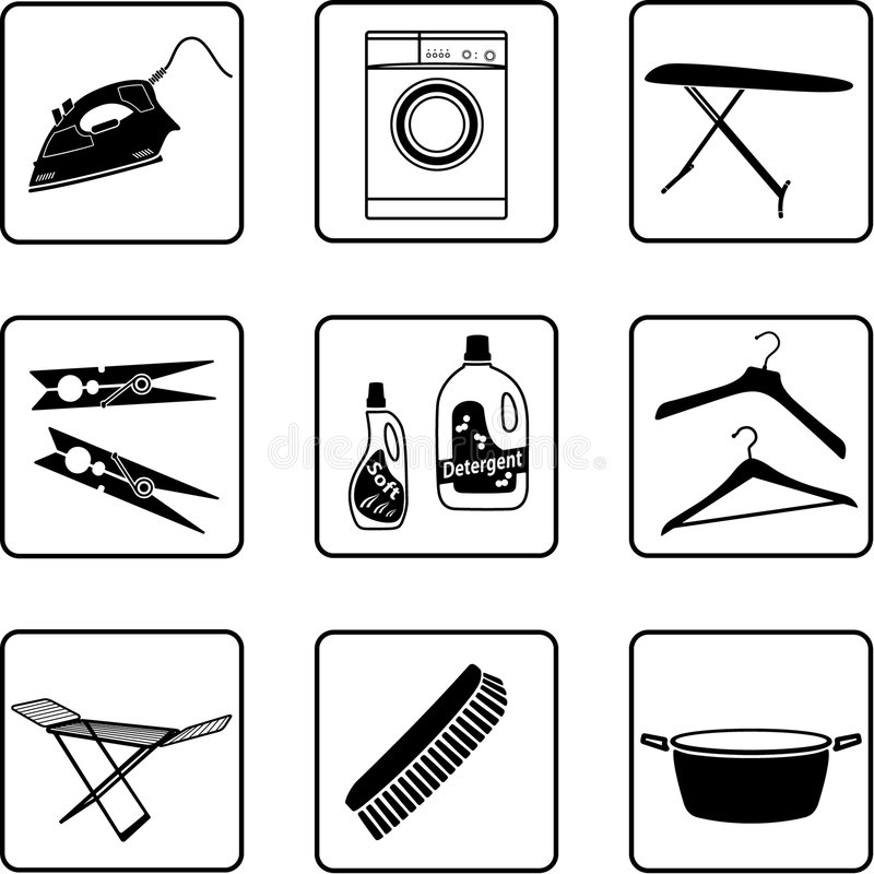 Download Laundry stock vector. Image of ironing, laundry, cleaner - 7994303