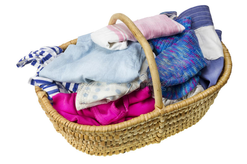 Laundry In Basket Royalty Free Stock Photos