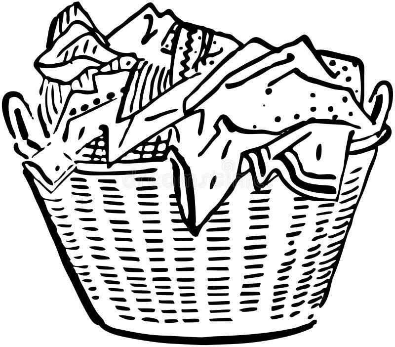 Laundry Basket royalty free illustration