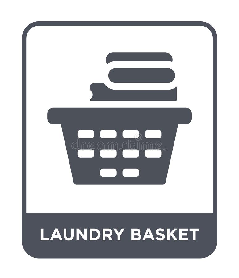 Laundry basket icon in trendy design style. laundry basket icon isolated on white background. laundry basket vector icon simple. And modern flat symbol for web vector illustration