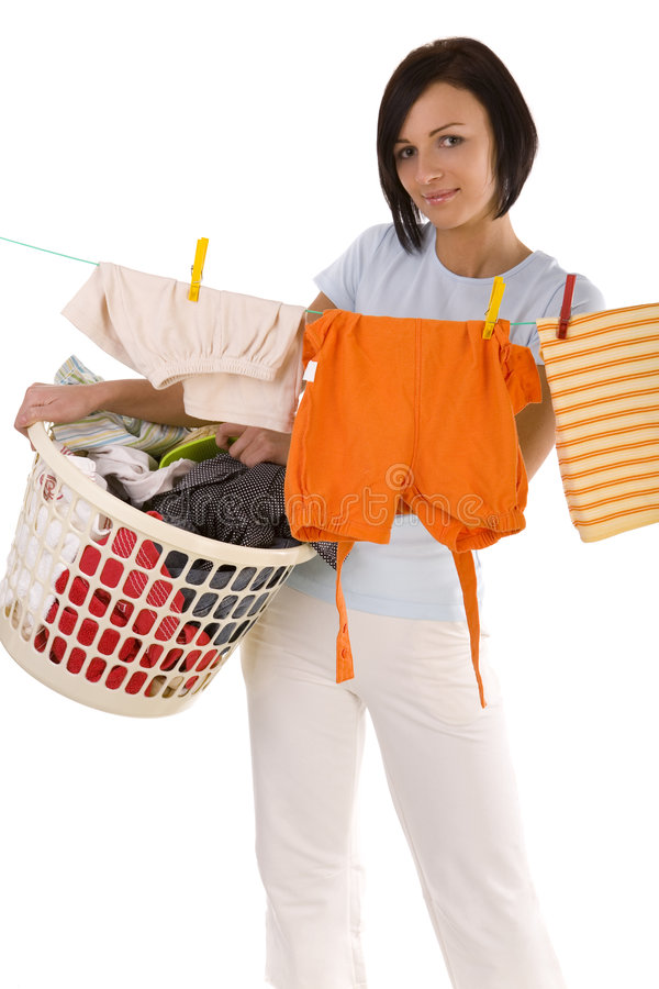 Laundry day stock photography