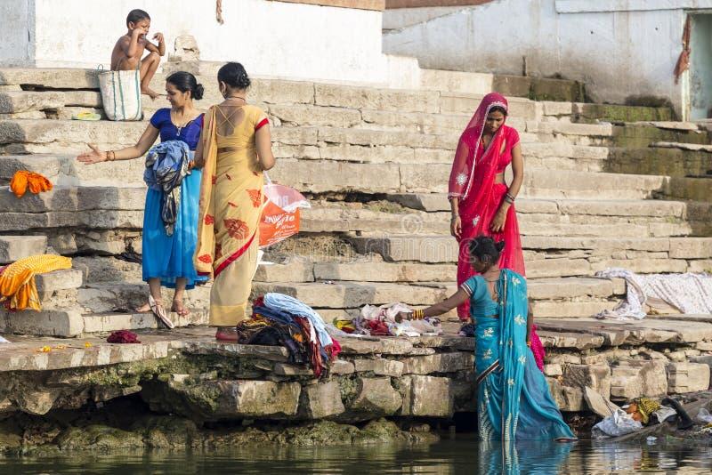Laundry day in Varanasi, India royalty free stock photography
