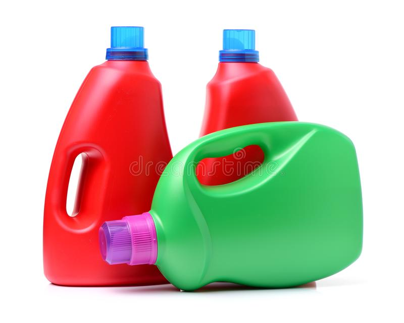 Laundry detergent bottle. On white background stock images