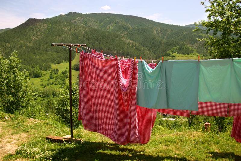 Download Laundry drying stock photo. Image of laundry, domestic - 16786272