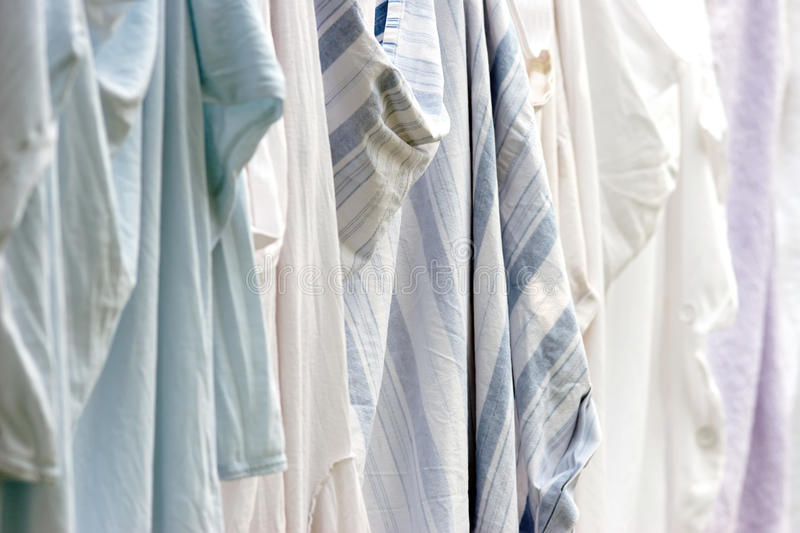 Laundry drying in hospital - shallow depth of field royalty free stock image