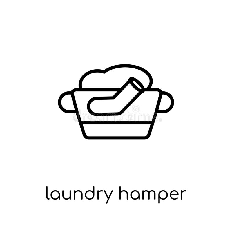 Laundry hamper icon from Furniture and household collection. vector illustration