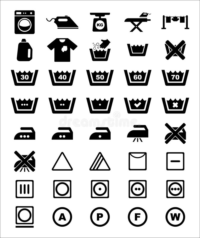 Laundry Icon set. For your design royalty free illustration