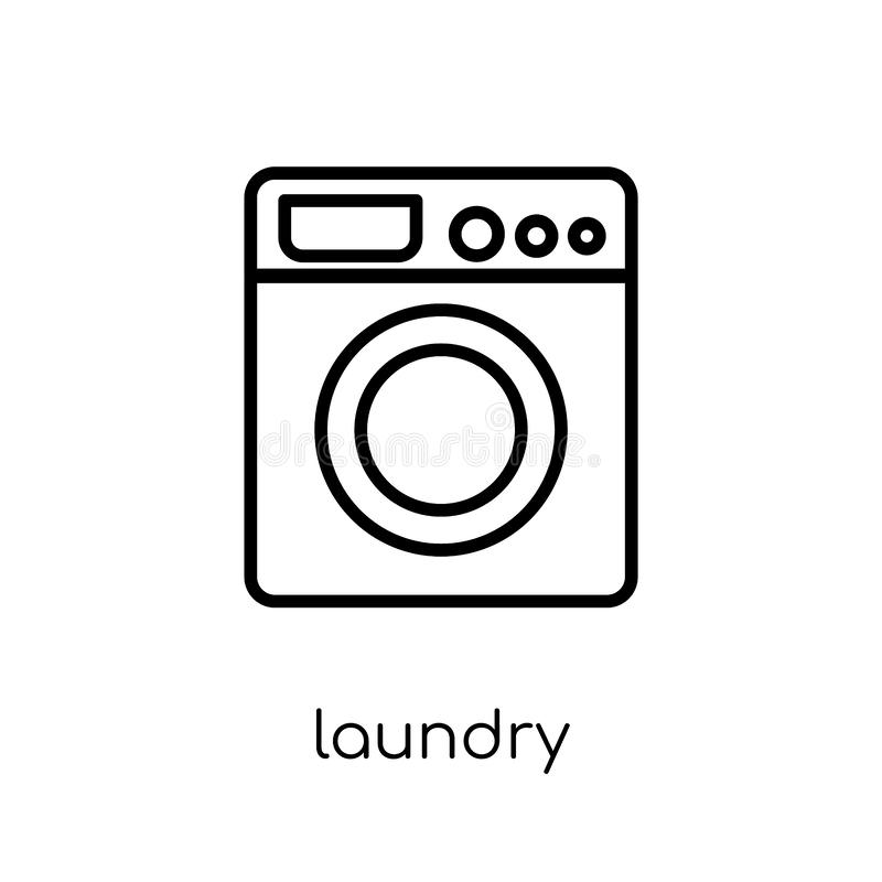 Laundry icon. Trendy modern flat linear vector Laundry icon on w royalty free illustration