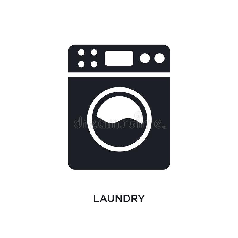 laundry isolated icon. simple element illustration from cleaning concept icons. laundry editable logo sign symbol design on white vector illustration