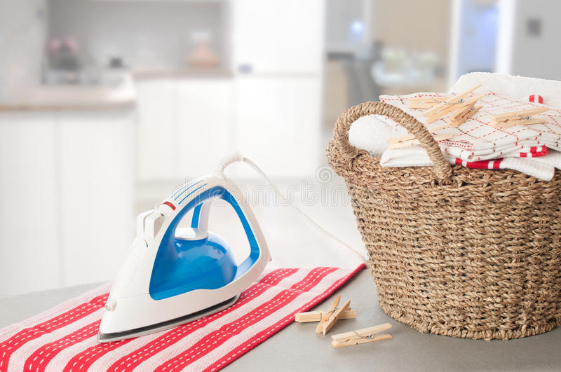 Laundry In Kitchen Setting